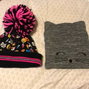 Justice beanies/ winter hats